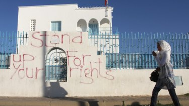 After the Arab Spring: Anti-corruption graffiti in Sidi Bouzid, Tunisia.