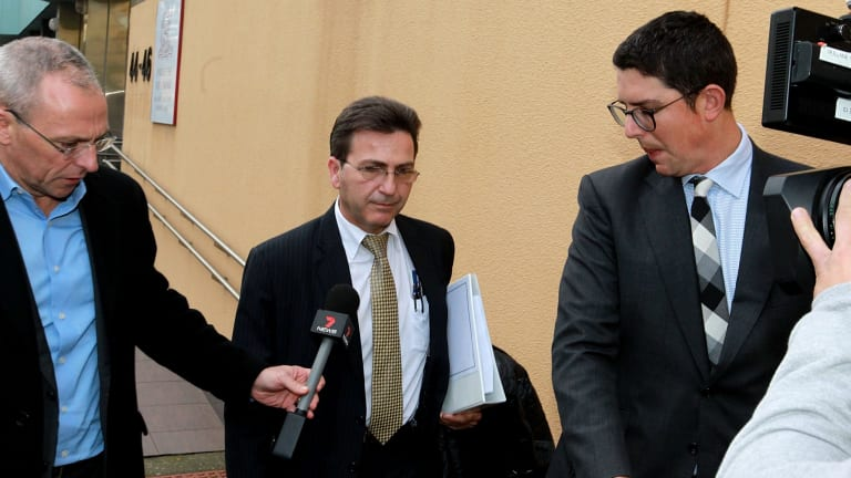 Inquest: Strata manager Peter Poulos, of RW Realty, leaves Glebe Coronor's Court.