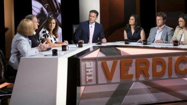 <i>Verdict</i> panel and host Karl Stefanovic.