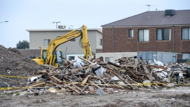 Rubble from the pub was dumped on a site owned by the developers in Cairnlea. Uncontained asbestos was among the rubble.