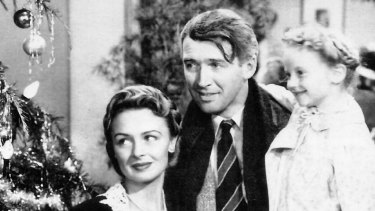 Donna Reed and James Stewart in <i>It's a Wonderful Life</i>.