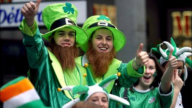 Hundreds of people have watched and taken part in the St Patricks Day march through Sydney in previous years. The parade will not take place this year.