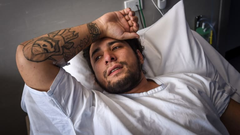 Manaia McElhaney had to be revived twice on the way to hospital.