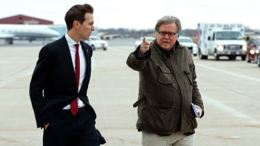 Bannon was fond of showing his disdain for refined Washington by wearing baggy cargo pants through the streets of the capital, shaggy and unshaven.