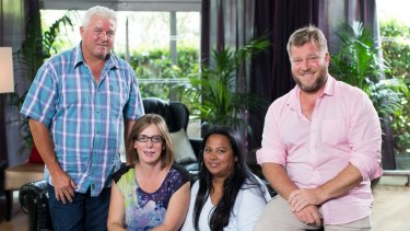 Uneven division of money ... Couples Kevin Shanhun and Honey Richmond, left, and Mem and Troy Hockley, participants in Nine's reality 'experiment' <i>The Briefcase</i>.