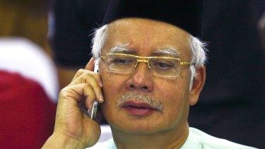 Under pressure from former ally: Malaysian Prime Minister Najib Razak.