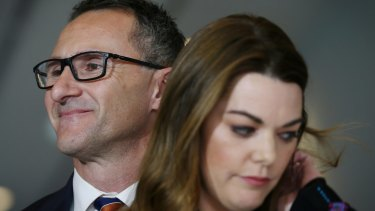 Senators Richard Di Natale and Sarah Hanson-Young.