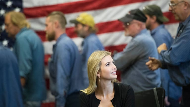 Ivanka Trump, daughter of Republican presidential candidate Donald Trump, attends a round-table discussion with local businesswomen after touring Middletown Tube Works, a welded steel tube supplier.