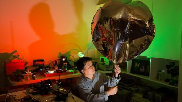 Andy Nguyen is a network engineer by day - but in his spare time he gets into the 'balloon scene'.