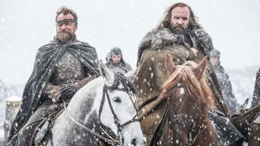 Richard Dormer as Beric Dondarrion and Rory McCann as Sandor 'The Hound' Clegane.