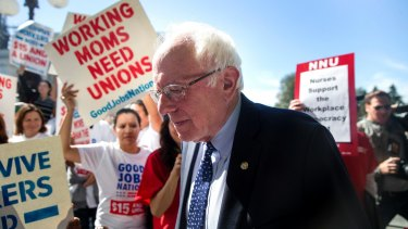 Bernie Sanders captured the votes of Democrats who feel disenfranchised with his appeal for a new contract between people and their government.