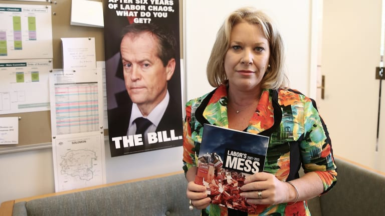 Former Coalition MP Natasha Griggs in her former office at Parliament House.