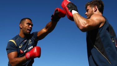 Boxing on: Kurtley Beale wants to  foster the code among Indigenous athletes.