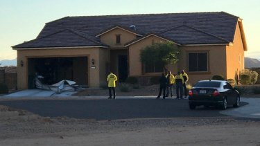 Paddock's house in Mesquite, Nevada.