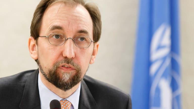 The UN High Commissioner for Human Rights, Zeid bin Raad al-Hussein.