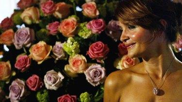 Supermodel Helene Christensen as she modelled the flawless gem.