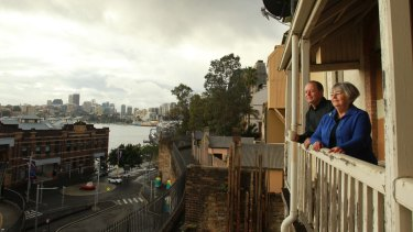Concerns: John Dunn and Margaret Bishop fear for elderly tenants at Millers Point.