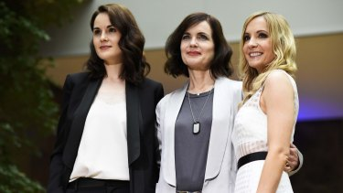 Cast members of the hugely successful Downton Abbey: Dockery (left), Elizabeth McGovern and Joanne Froggatt.