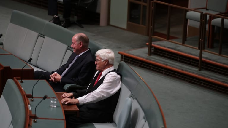 Russell Broadbent and Bob Katter vote against the same-sex marriage legislation in the House of Representatives.