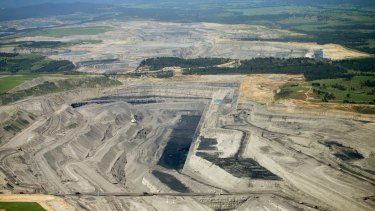 Rio Tinto's Warkworth mine in the Hunter Valley.