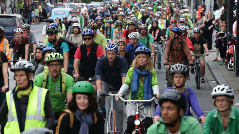 Thousands of cyclists converged on Sydney Road last March to pay tribute to Alberto Paulon who was killed in a tragic dooring incident.