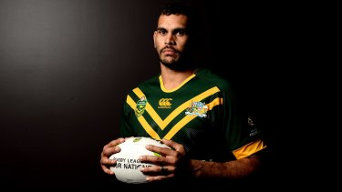 Devoted: Kangaroos and South Sydney superstar Greg Inglis.