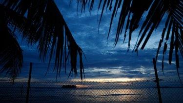 Behind the fences on Manus Island.