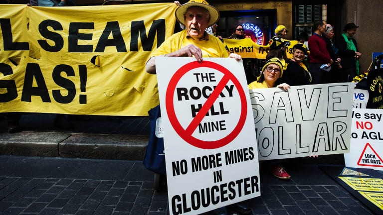 Anti-mining groups say the Baird government is removing checks on new mining projects.