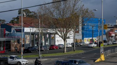 The site for the proposed 17-storey in Clifton Hill.