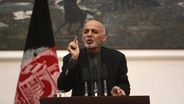 Afghan President Ashraf Ghani in Kabul earlier this month.