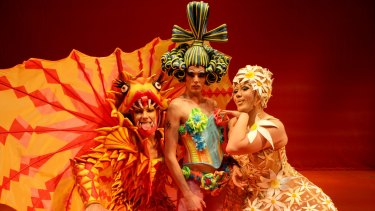 Mark Hodge, the late Daniel Scott and Trevor Ashley in the debut production of the musical that went on to tour the world.