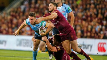 Tough night: A poor performance from the vast majority of the Blues side in game three.