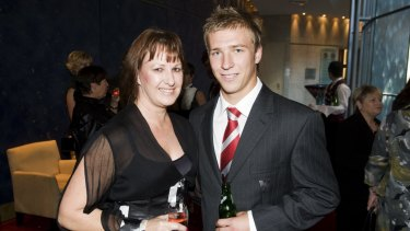 Kieren Jack and his mother Donna in 2009.