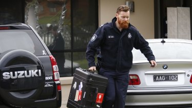 Police conduct terror raids in Hallam, Melbourne, on April 18.
