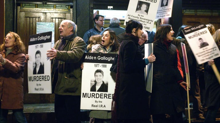 A scene from the 2005 film Omagh, directed by Pete Travis. The film traces the plight of the Gallagher family in the wake of their son Aiden's death in the bombing.