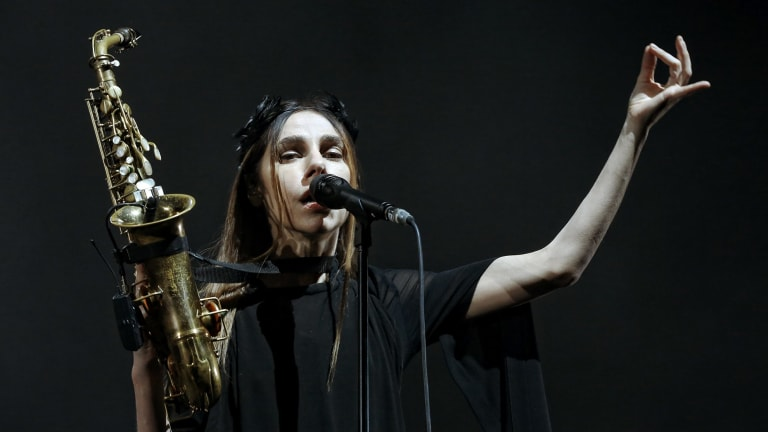 Astonishingly good: PJ Harvey.