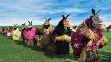 American artist Nick Cave's <i>Heard</i> features 60 performers parading in horse suits around the city.