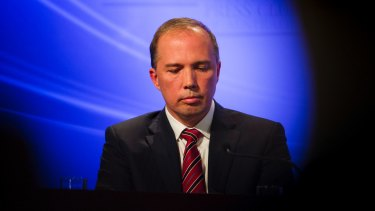 Immigration and Border Protection Minister Peter Dutton.