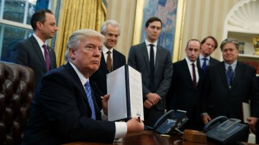 President Trump reinstates the Reagan-era ban on US aid donations to foreign health care providers that offer abortion counselling.