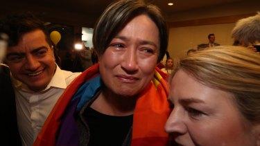 """Thank you, Australia."" Penny Wong reacts."