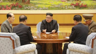 Kim Jong-un meets his ruling party's presidium this week