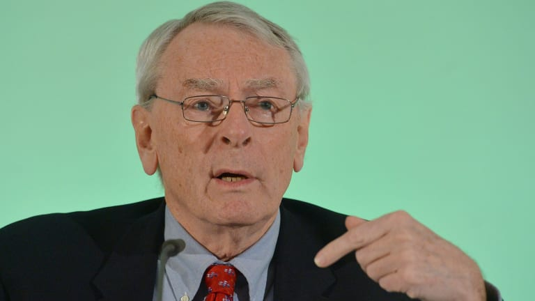 Scathing ... Canadian Richard Pound, Chairman of WADA's (World Anti-Doping Agency) Independent Commission (IC), presents the findings of his Commission's Report surrounding allegations of doping in sport, during a press conference in Munich, Germany, on Thursday.