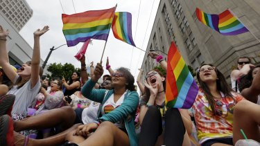 Hundreds of thousands of people packed gay pride events from New York City to Seattle, San Francisco to Chicago in June to celebrate the Supreme Court ruling legalising same-sex marriage.