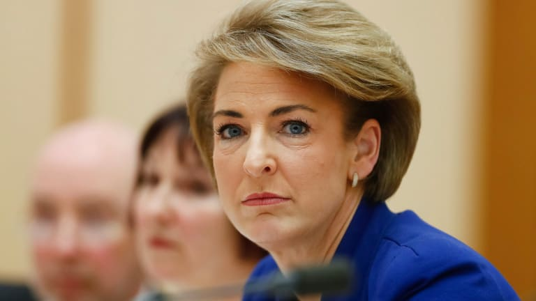 Minister for Employment Michaelia Cash during a Senate estimates hearing at Parliament House on Wednesday.