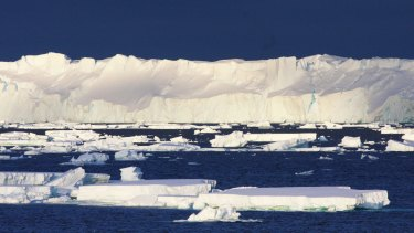 The 120km-long Totten Glacier is showing signs of melting from below.