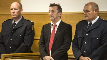Phil Rudd appearing in New Zealand court.