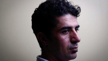 Refugee Benham Satah from Iran, on Manus Island.