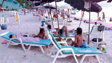 Patong Beach in Phuket, Thailand, is very popular with Australian tourists.
