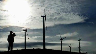Challicum Hills wind farm near Ararat.