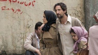 Salma Hayek and Adrien Brody in <i>Septembers of Shiraz</i>.